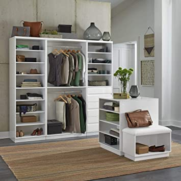 Linear White 5 Piece Storage System by Home Styles