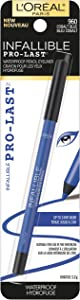 L'Oreal Paris Makeup Infallible Pro-Last Pencil Eyeliner, Waterproof & Smudge-Resistant, Glides on Easily to Create any Look, Cobalt Blue, 0.042 oz.