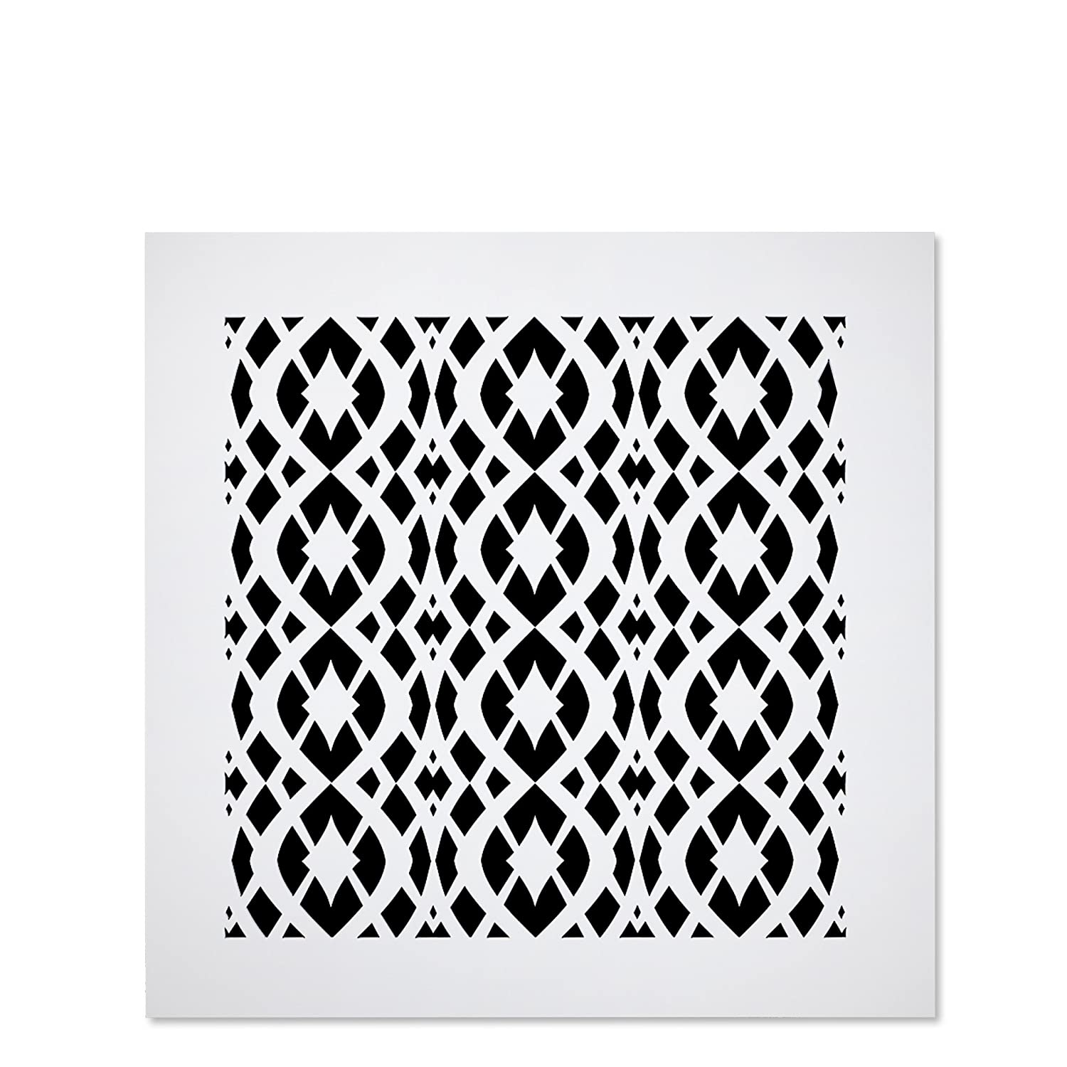 """Saba Air Vent Cover Grille - Acrylic Fiberglass 10"""" x 10"""" Duct Opening (12"""" x 12"""" Overall) White Finish Decorative Register Covers for Walls and Ceilings NOT for Floor USE, Charlotte"""