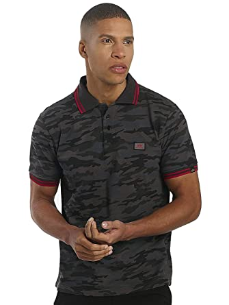 Alpha Industries Hombres Ropa Superior/Camiseta Polo Twin Stripe ...