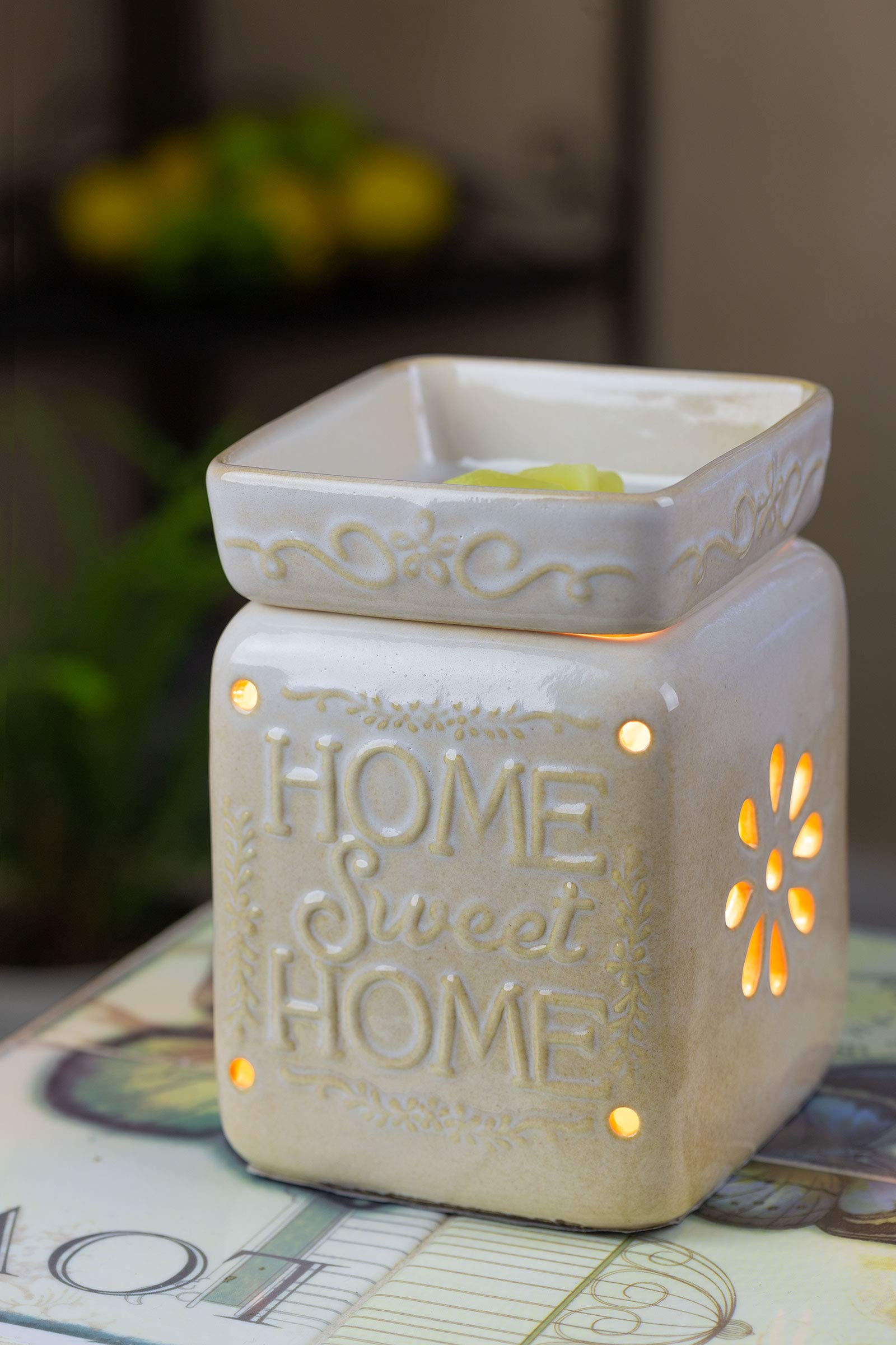 Ceramic Fragrance Warmer (Home Sweet Home) by VP Home (Image #3)
