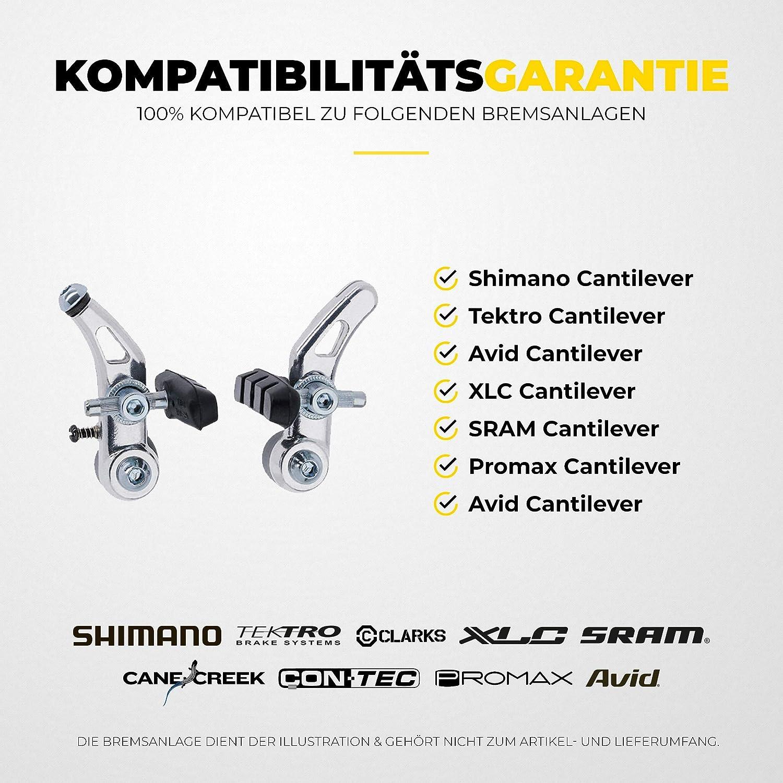 PROMAX bicicleta palanca de freno set para V-Brake /& cantileverbremsen compatible 1 pares