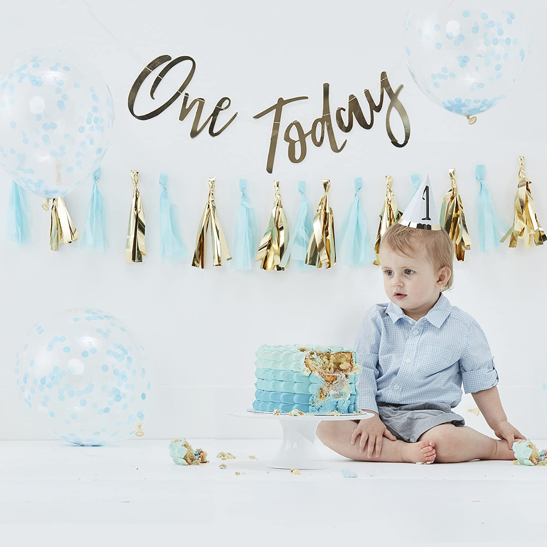 Prime Ginger Ray Blue Gold Boys Cake Smash Kit First Birthday Party Personalised Birthday Cards Arneslily Jamesorg