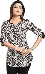 Women Fashion Fancy Indian Kurti Tunic Kurta Top Shirt Dress MM139 Brown