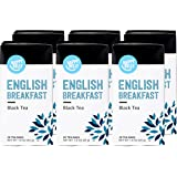 Amazon Brand - Happy Belly Tea Bags, English Breakfast, 20 Count (Pack of 6) (Previously Solimo)