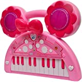 Toyshine Mini Piano Keyboard with Lights and Music, Pink