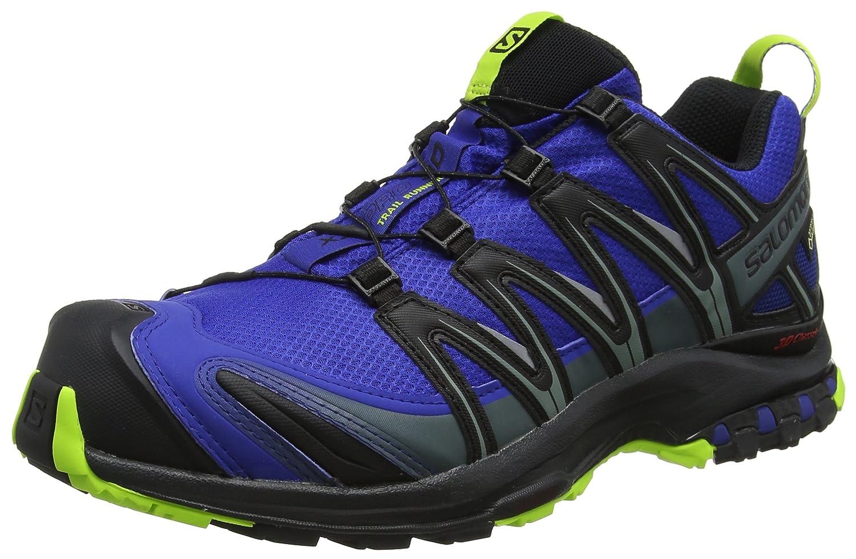 SalomonXA Pro 3D GTX - Zapatillas de Trekking y Senderismo de Media Caña Hombre 48 EU Azul (Mazarine Blue Wild/Black/Lime Green)