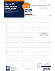 Filofax 19-68714 A4 Week On Two Pages 2019 Appointments Diary