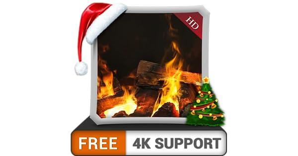 chimenea de deslumbramiento HD gratis: disfrute del invierno con una hermosa chimenea caliente en vacaciones de Navidad en su hdr 4k tv, 8k tv y dispositivos de fuego como fondo de pantalla