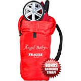 Angel Baby Travel Gate Check Bag for UMBRELLA Strollers - Made of DURABLE DOUBLE STRENGTH Polyester with Shoulder Strap, Water Resistant, Lightweight - Great for Airplane and Storage