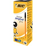 BIC Orange Original Fine Ballpoint Pens Black 20 Box
