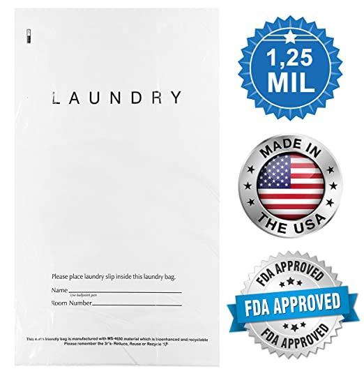 APQ Pack de 100 bolsas de lavandería Tear Strip 14 x 24. Bolsas de ...