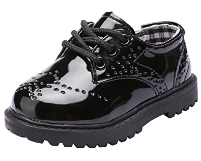 04ad8fea022a2 snofiy ローファー 学生 キッズ フォーマルシューズ 子供靴 男の子 レースアップ 通学靴 軽量 黒 白