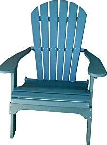 Phat Tommy Recycled Poly Resin Folding Adirondack Chair – Durable and Eco-Friendly Armchair. This Patio Furniture is Great for Your Lawn, Garden, Swimming Pool, Deck.