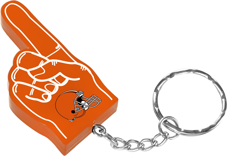 FOCO NFL Unisex-Adult #1 Finger Keychain