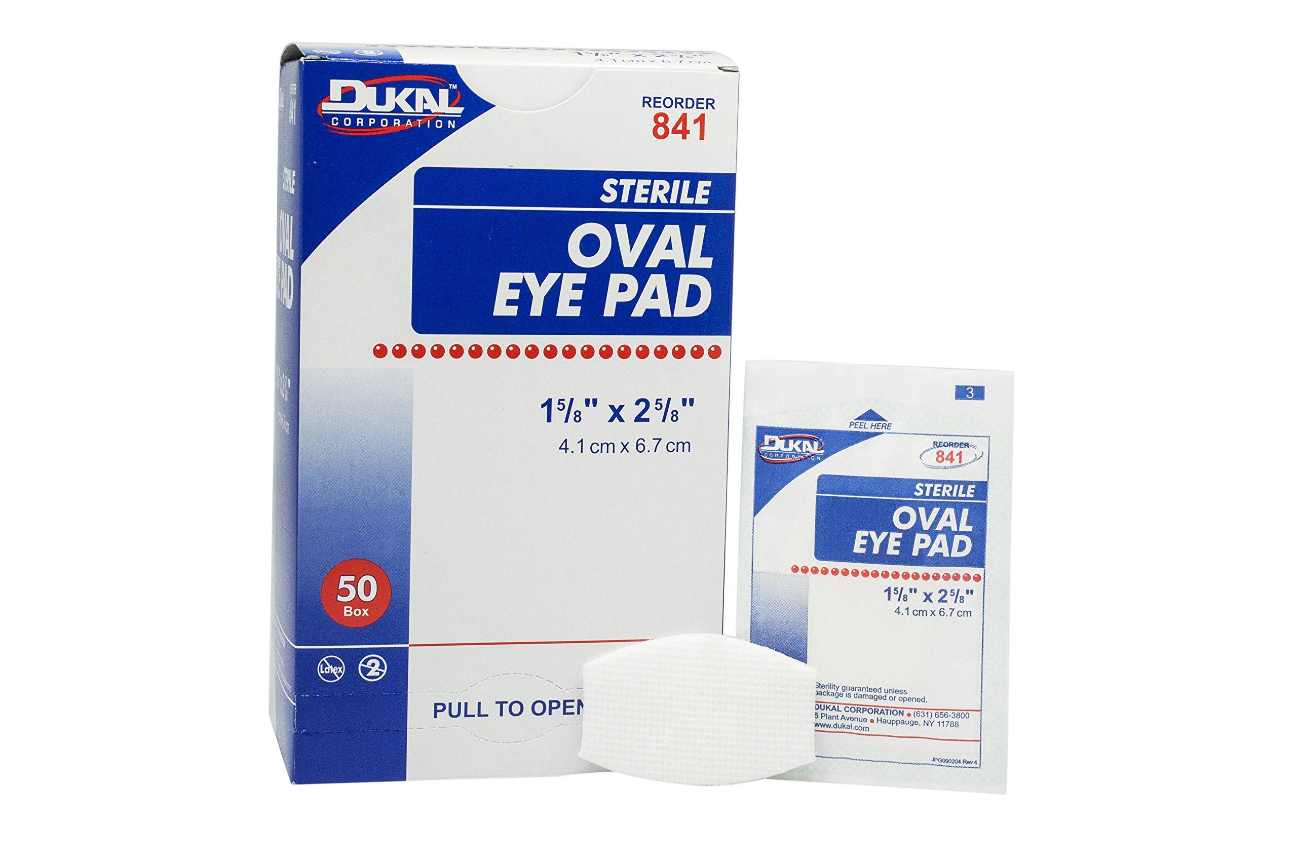 Dukal 841B Eye Pad, Sterile, Bulk Pack, 1-5/8'' x 2-5/8'', White (Pack of 1000) by Dukal
