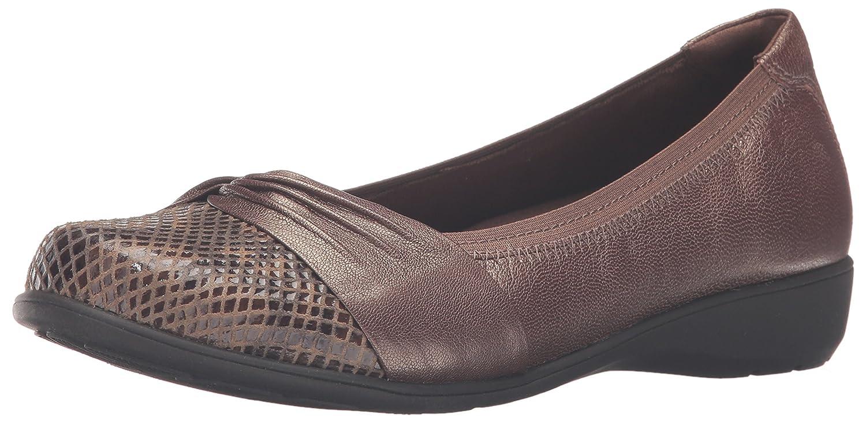 Amazon.com | Aravon Womens Andrea-AR Ballet Flat, Bronze, 7 D US | Flats