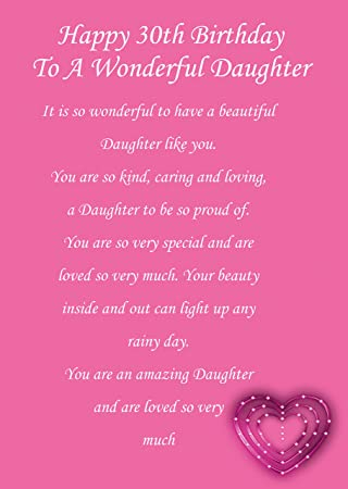Daughter 30 birthday card amazon office products bookmarktalkfo Image collections