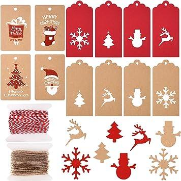 Amazon.com: Tuparka - Etiquetas de papel kraft para regalo ...