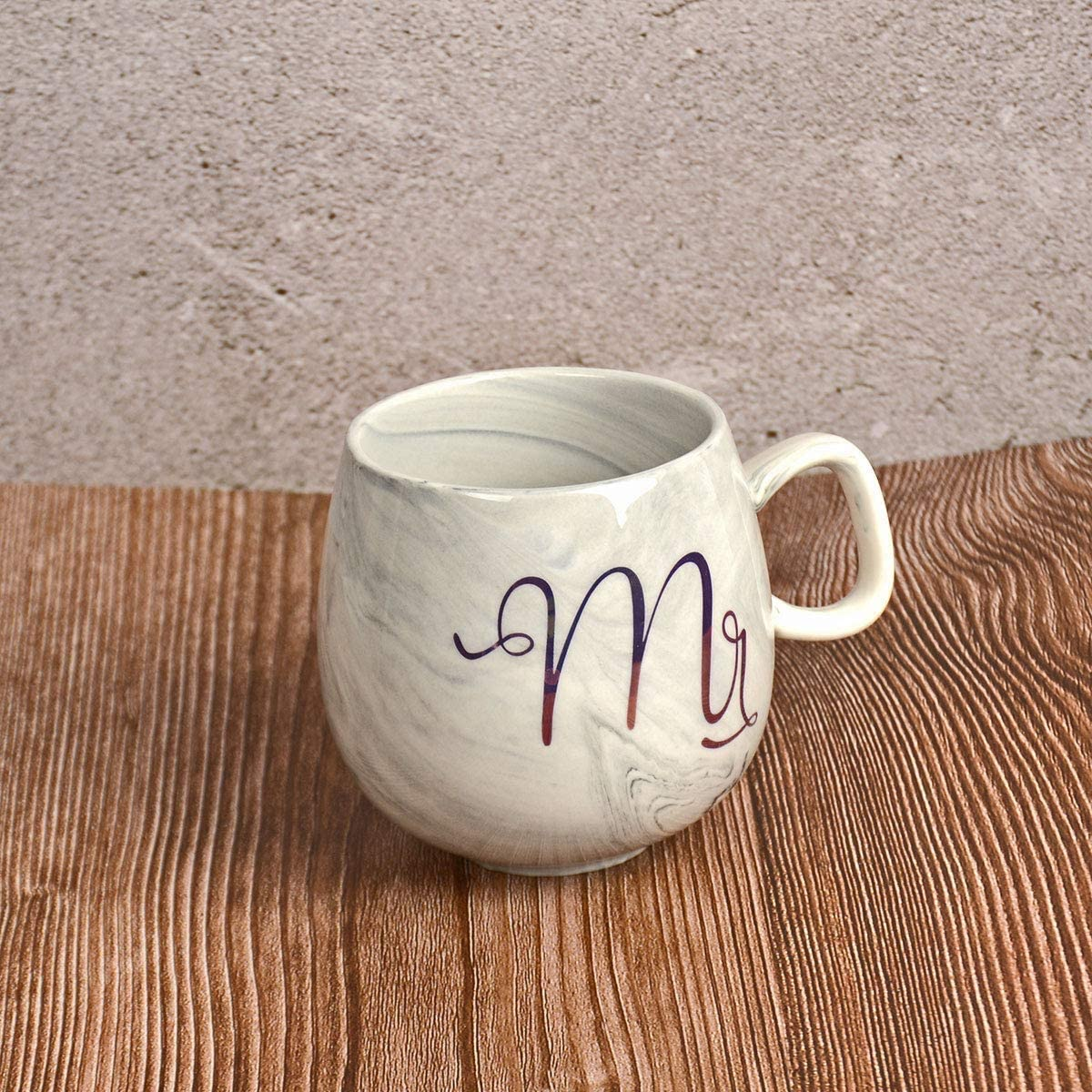 Tougo Set of 2 Mr and Mrs Coffee Mugs,Ceramic Coffee Cup with Gold /& Marble Design,Unique Gift for Him Her for Parents for Valentines Day for Engaged Married Couples