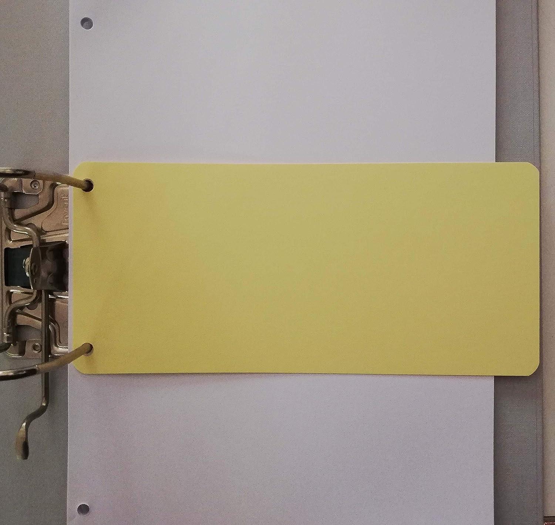 50 pz x 4 colori tot Cartoncini separatori 23x10cm 200 strisce divisori registro
