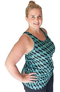 c9b404e24c0a0 TEMA Athletics Women s Plus-Size Tank Top Printed Bungee Activewear Yoga  Workout Sizes 1X -