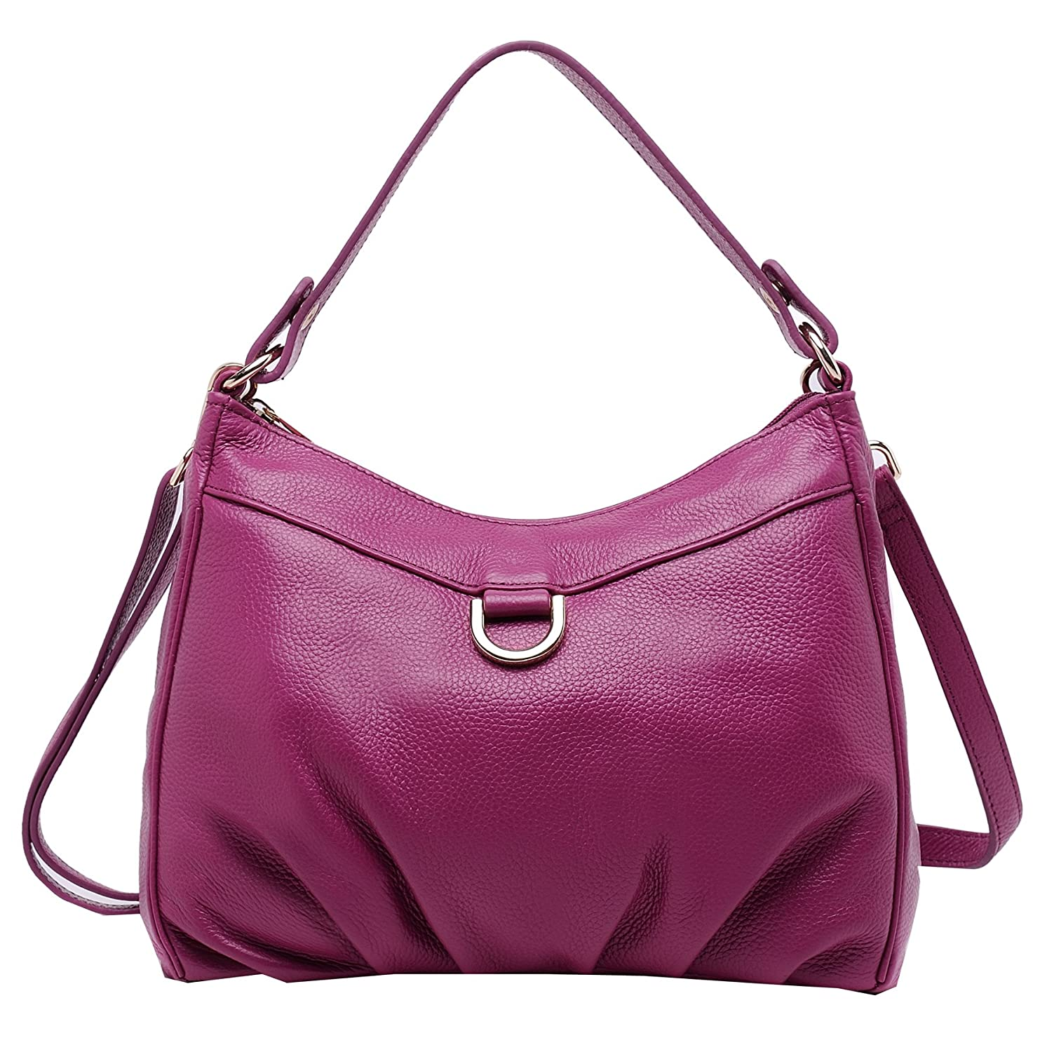 Amazon.com  Heshe Women Leather Handbags Top Handle Bags Shoulder Bag  Satchel and Purse with Long Strap (Violet)  Shoes 30a71f48e9005