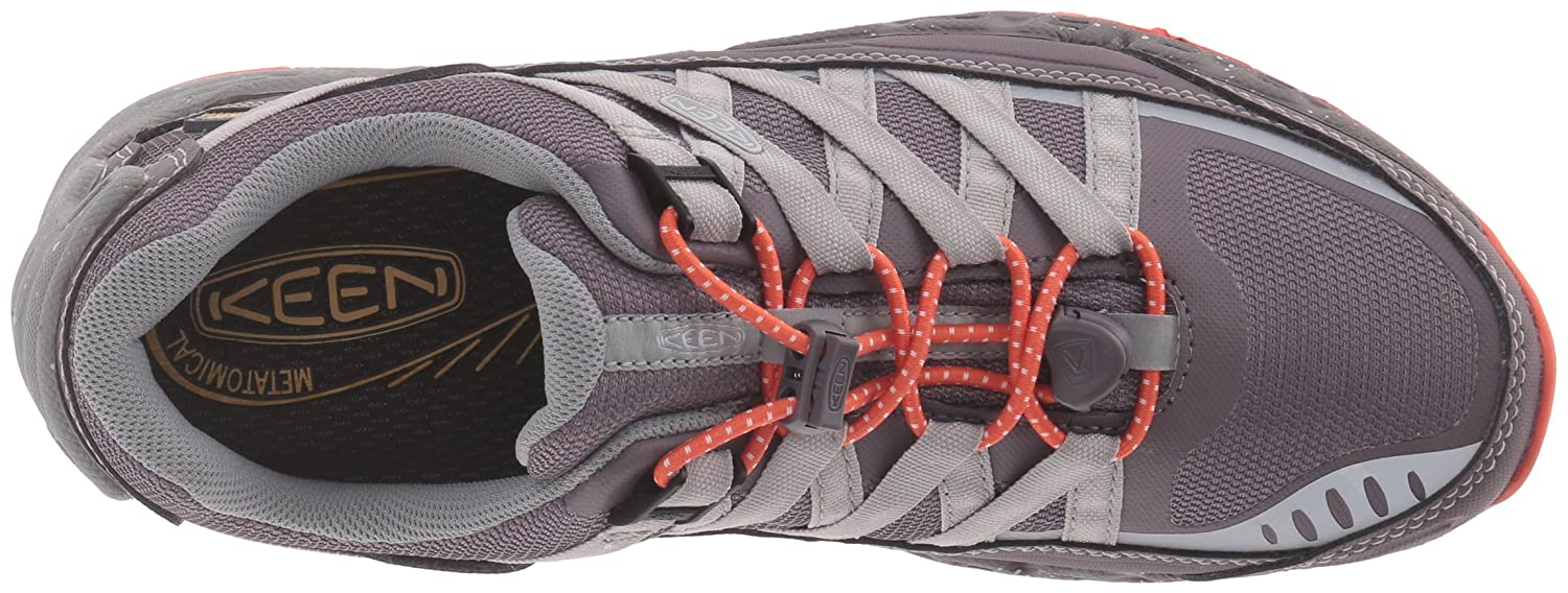 KEEN Women's Versatrail Waterproof Shoe B019HDNJFI 8.5 B(M) US|Shark/Tiger Lily