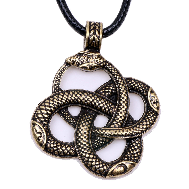 Paw Paw House Dragon Necklace Norse Viking Snake Ouroboros Talisman Pagan Wicca Spiritual Jewelry Zhiyu