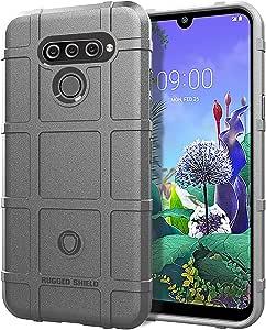 SWMGO® Firmeza y Flexibilidad Smartphone Funda para LG Q60(Gris ...