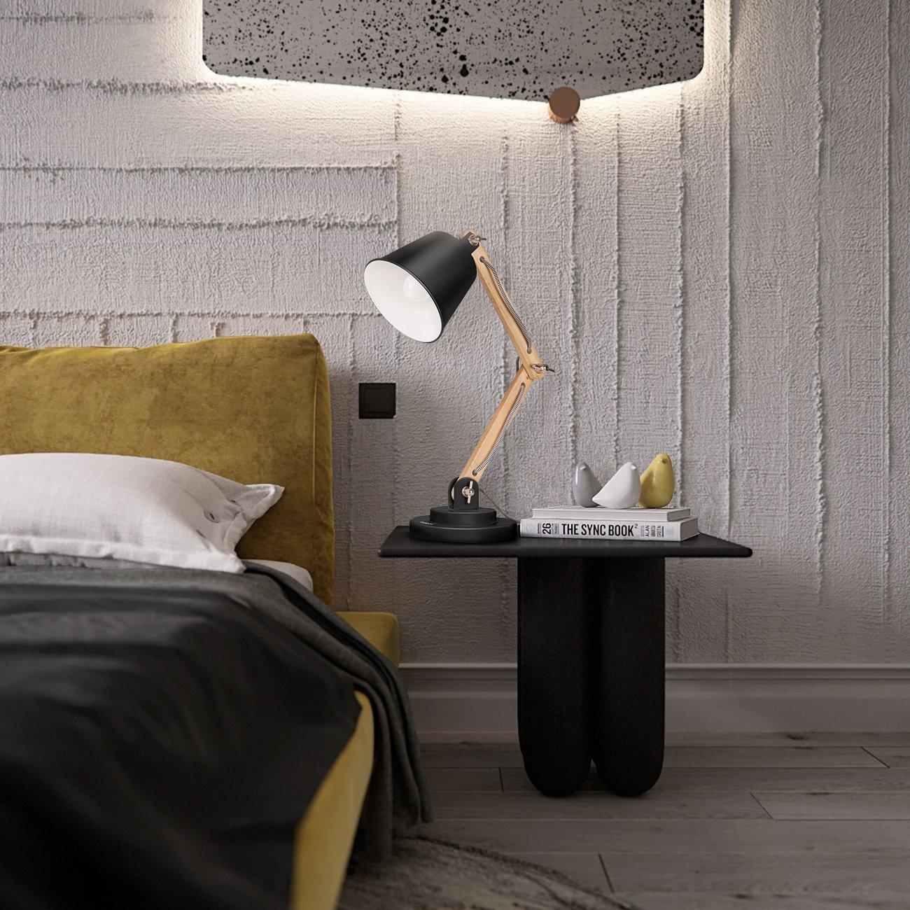 Tomons Schwenkbare Schreibtischlampe Leselampe Retro Design Für  Schreibtisch Und Nachttisch, Designer Lampe Für Arbeitszimmer, Büro,  Schlafzimmer Und ...
