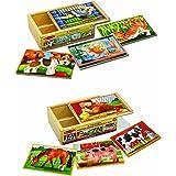 Melissa & Doug Pets and Farm Box Puzzle Bundle