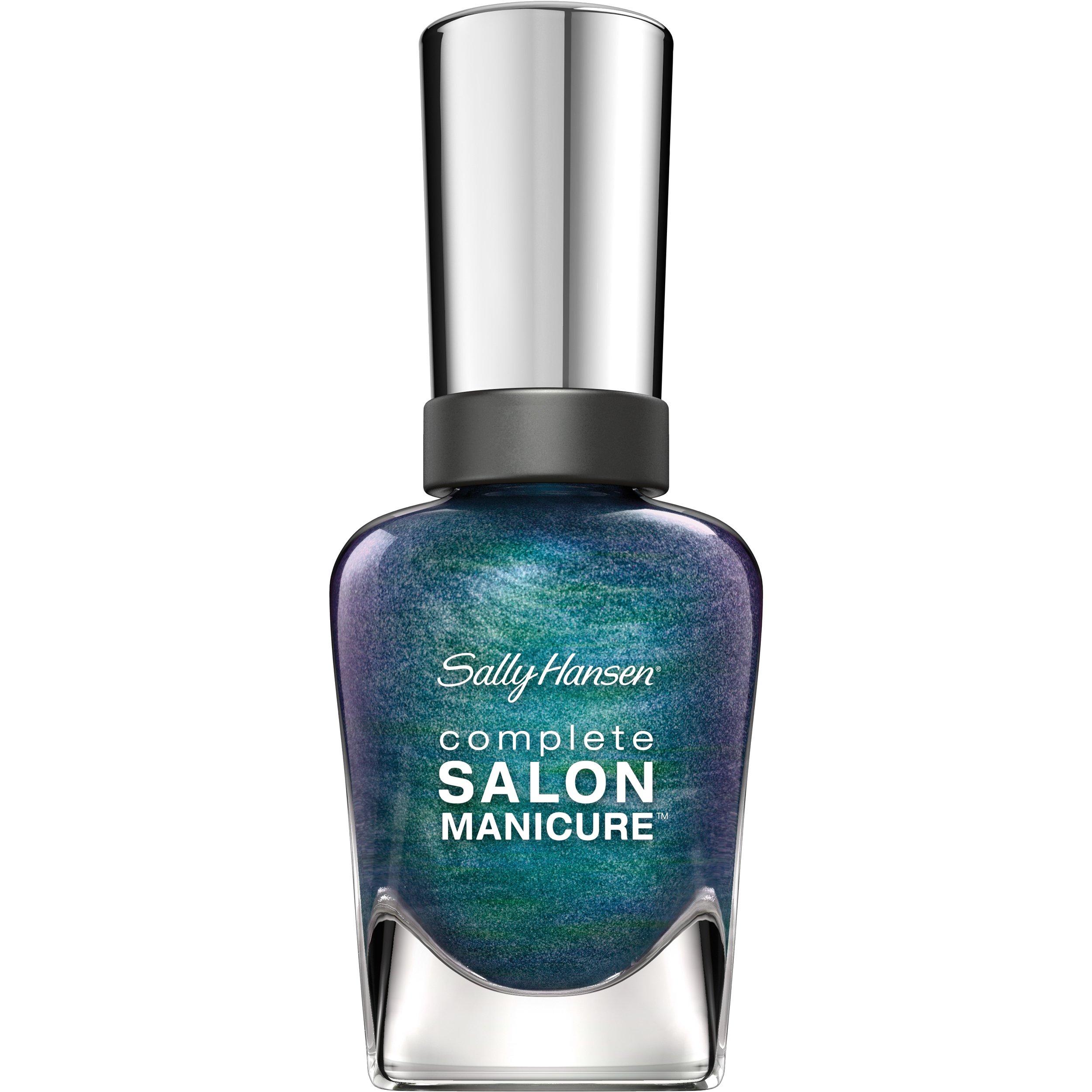 Sally Hansen Complete Salon Manicure Nail Polish, Black and Blue, 0.5 Fluid Ounce