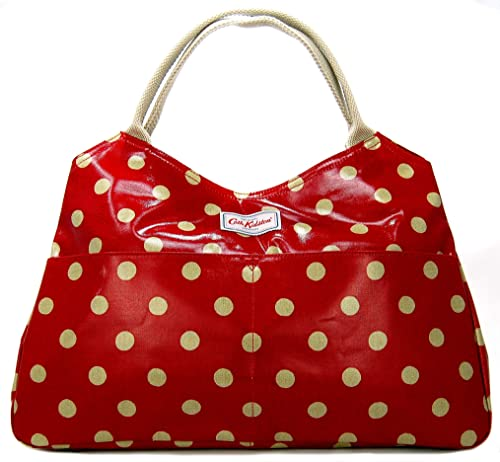 new products for pick up popular design Cath Kidston Open Tote Bag in 'Button Spot' Design in Berry ...