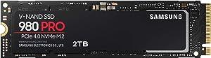 SAMSUNG 980 PRO 2TB PCIe NVMe Gen4 Internal Gaming SSD M.2 (MZ-V8P2T0B/AM)