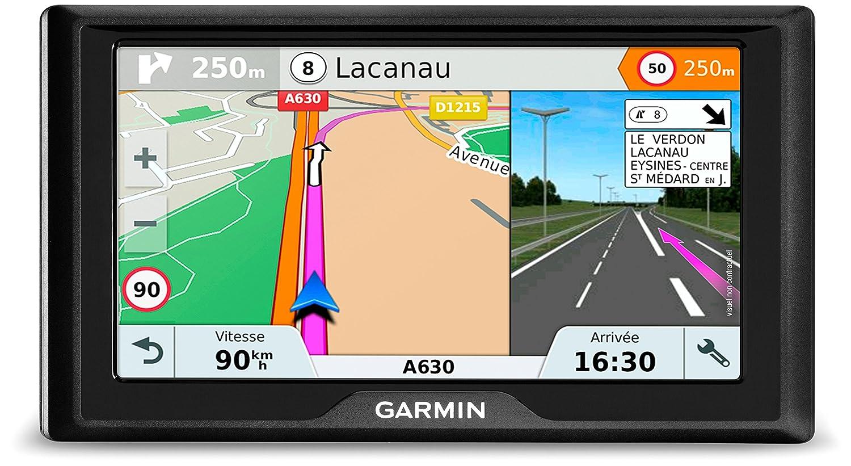Garmin Drive 61 CE LMT-S Navigatore 6', Mappa Europa Centrale, Aggiornamento a Vita e Servizi Live via Bluetooth, Traffico Smartphone Link 010-01679-22