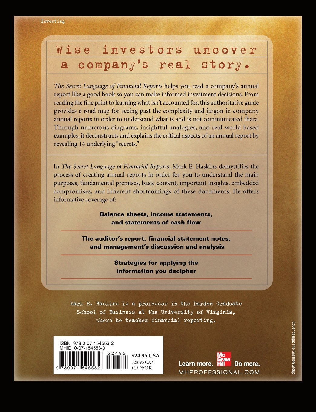 The Secret Language of Financial Reports: The Back Stories That Can Enhance Your Investment Decisions by McGraw-Hill Education