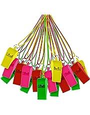 THE TWIDDLERS 60 silbatos de plástico con Cordones de Colores Variados Juguete para Deportes Festivos, Detalles / Rellenos para Bolsas de Fiesta y Mucho más.