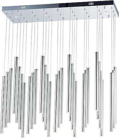 ET2 Lighting E10002-PC Flute 1-Light Pendant-COB LED Polished Chrome