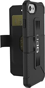 URBAN ARMOR GEAR [UAG Folio iPhone 8/iPhone 7/iPhone 6s [4.7-inch Screen] Metropolis Feather-Light Rugged [Black] Military Drop Tested iPhone Case