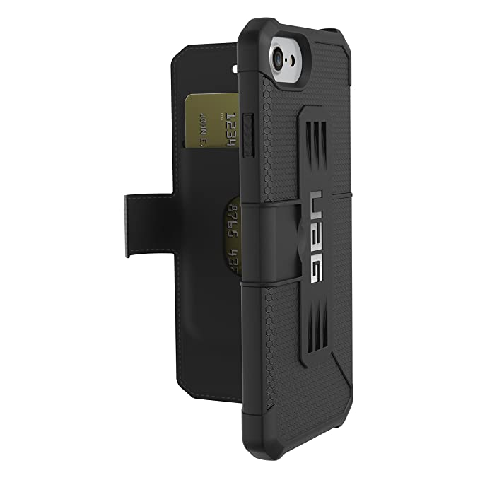 new product e19f2 7d4b9 UAG Folio iPhone 8 / iPhone 7 / iPhone 6s [4.7-inch Screen] Metropolis  Feather-Light Rugged [Black] Military Drop Tested iPhone Case