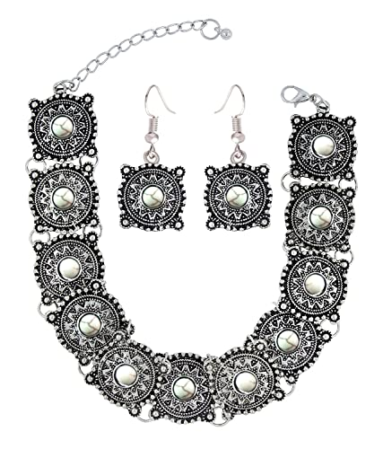 903955c01 Buy The Jewelbox Antique Tribal Afghani Bohemian Oxidised German Silver  Choker Jewellery Set For Women Online at Low Prices in India | Amazon  Jewellery ...