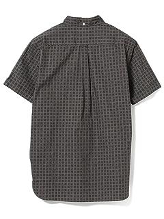 Batik Print Short-Sleeve Popover Buttondown Shirt 11-01-1062-139: Grey