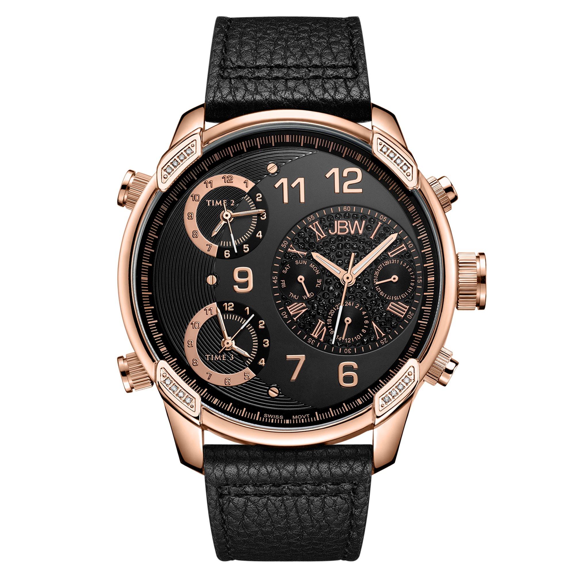 JBW Men's J6248LG ''G4'' Multi-Time Zone Lifestyle Diamond Watch