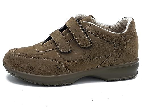 43 khaki scarpe scarponi da uomo di camoscio da passeggio