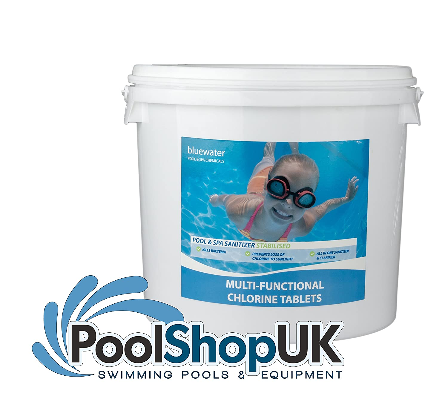 4 x 5kg Multifunctional Chlorine Tablets 200g Swimming Pool Active Chemical Products