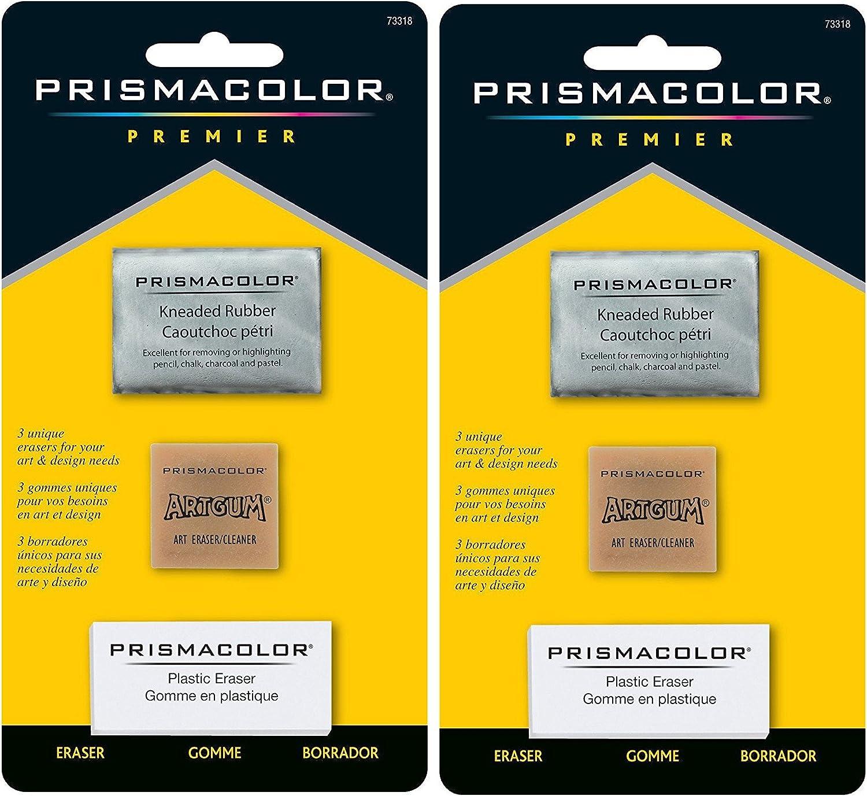 2 NEW LARGE SANFORD DESIGN PRISMACOLOR PREMIER KNEADED RUBBER ART ERASERS 70531