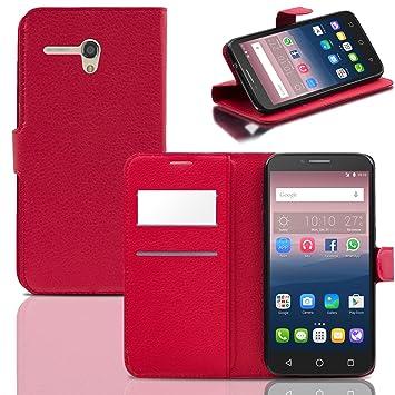 Funda Alcatel One Touch POP 3 5.5 Case Roja Carcasa Con Tapa ...