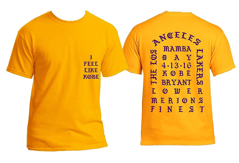 Amazon.com  I Feel like Kobe Mamba Day Pablo Yeezy Kanye West GOLD T shirt  MSG Short Sleeve  Clothing f58ecc9a447e