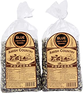 product image for Amish Country Popcorn | 2 (2 Lb Bags) Blue Kernels | Old Fashioned with Recipe Guide (2 (2lb Bags))